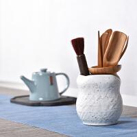 陶瓷竹茶道六君子茶夹茶笔青瓷茶具茶盘配件茶具套装