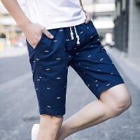 短裤男士休闲裤子运动五5分亚麻裤沙滩速干夏季薄款工装潮流马裤