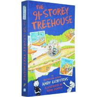 【全店300减100】英文原版 The 91-Storey Treehouse 小屁孩树屋历险记 91层树屋 插图漫画章