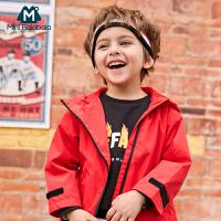 【2件4折】迷你巴拉巴拉男童斜门襟便服春新款儿童防风外套潮酷冲锋衣