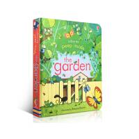 Peep Inside the Garden 偷偷看里面 花园 翻翻书 Usborne 低幼启蒙认知纸板机关洞洞书 英