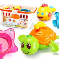 儿童洗澡玩具婴儿游泳洗水小乌龟宝宝沐浴喷水叠叠乐戏水玩具