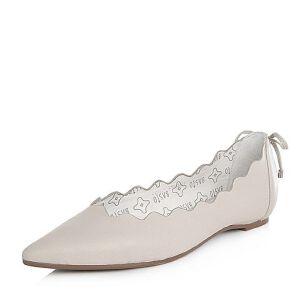BASTO/百思图2018春季专柜同款牛皮波浪边尖头纯色女单鞋RGQ20AQ8