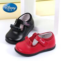迪士尼小熊维尼童鞋 女童皮鞋2017春夏新款2-6岁儿童皮鞋软底公主鞋学步鞋