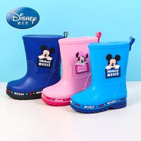 迪士尼童鞋 儿童雨鞋雨靴2017春夏新款男童雨鞋女童雨鞋防滑潮湿雨靴