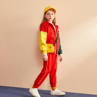 【2件4折:179.2】巴拉巴拉旗下巴帝巴帝儿童秋装套装女2019新款运动服韩版外套长裤子两件套洋气