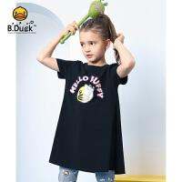 【3折价:89.7】B.duck小黄鸭童装女童连衣裙夏装2020新款小女孩短袖裙子儿童裙子BF2180903