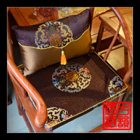 仿古红木沙发坐垫实木中式家具座垫官帽皇宫圈椅海绵棕垫定做套装