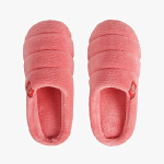 当当优品 情侣居家棉拖鞋 厚底毛绒保暖棉拖鞋 D2731
