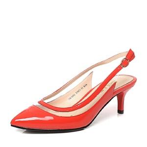 Belle/百丽春季专柜同款漆皮优雅女凉鞋3W4D2AH6