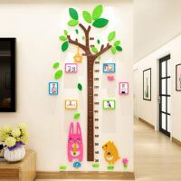 趣味测量身高挂尺 儿童宝宝成长记录 木制可折叠