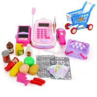 儿童收银机玩具女孩过家家套装男女童仿真超市收银台玩具