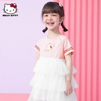 【2件2.3折:54.9元】HelloKitty女童短袖连衣裙2021夏季新款甜美公主裙宝宝儿童装裙子
