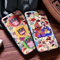 苹果7plus手机壳iphone6s浮雕8情侣6p全包苹果x彩绘硬壳iphonex保护套八男女
