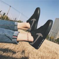 男鞋春季潮鞋 新款帆布鞋男韩版百搭低帮布鞋学生男士休闲板鞋