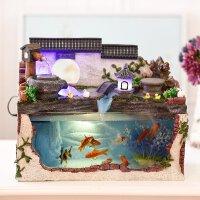 办公室创意家居饰品摆件客厅水景观摆设流水鱼缸喷泉加湿器工艺品
