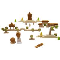 积木 印象杭州 木制模型玩具纪念品礼物