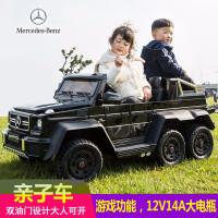 新款超大号双油门儿童越野车四驱6轮可坐大人越野汽车男女宝宝摇摆玩具车双人座电动遥控童车