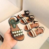 女童凉鞋2018新款韩版夏季儿童软底露趾小公主鞋女孩学生中大童鞋