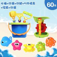 儿童沙滩玩具套装大号铲子桶沙漏组合宝宝戏水洗澡挖沙决明子工具 +滚筒+沙漏+模具5件