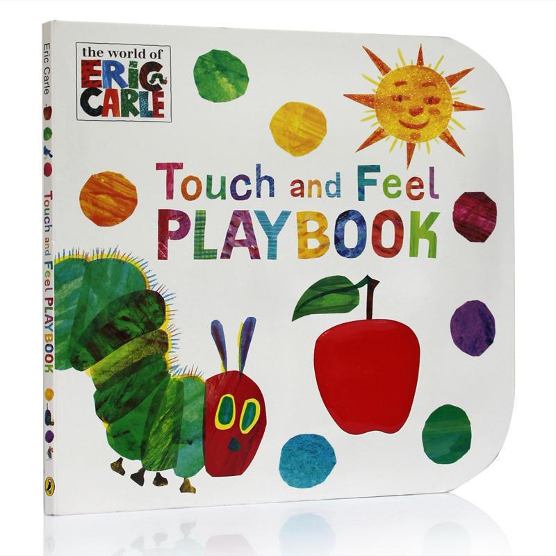 英文原版绘本world of Eric Carle The Very Hungry Caterpillar: Touch and Feel 入门饥饿的毛毛虫启蒙触摸大纸板书0-3岁张湘君