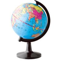 【满100-40 单件包邮】得力大号地球仪 3034彩色地球仪直径25cm标准教学地球仪