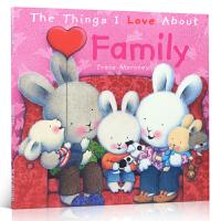 英文原版 The Things I Love About Family 我喜爱我的家人 毛毛兔情绪商管理绘本进口正版幼