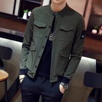 青少年学生立领夹克矮个子小码丨码韩版修身男土外套时尚短款上衣