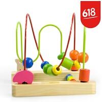 费雪 Fisher-Price 串珠架 木质儿童早教玩具 宝宝绕珠13岁