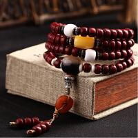 阿摩罗朱砂供星月菩提子108颗 干磨正月 男女款佛珠手链