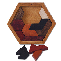 儿童智力拆装玩具木制孔明锁古典玩具异形盒分区八角盘