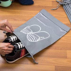 【满减】欧润哲 10个装灰色大号鞋子收纳袋 鞋子旅行鞋包收纳包束口防尘袋家用鞋罩鞋袋鞋套