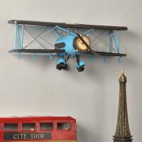 复古铁艺飞机模型墙面壁饰欧式田园地中海风格家居装饰品创意挂件