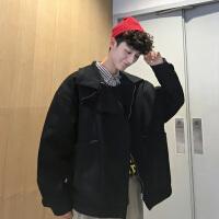 冬装新款加厚韩版纯色棉服学生男士宽松帅气潮牌情侣保暖棉衣外套