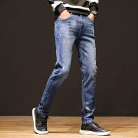 Lee Cooper春夏新款弹力中高腰直筒长裤子男士休闲宽松男潮流牛仔裤