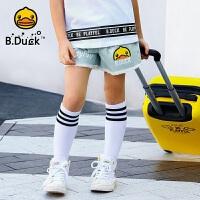 【4折价:107.6】B.Duck小黄鸭童装女童牛仔短裤 BF2051903