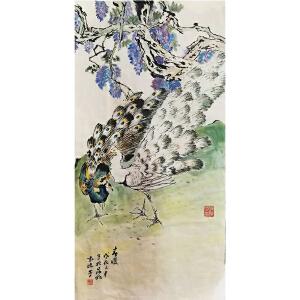 袁晓岑《花鸟869》著名画家