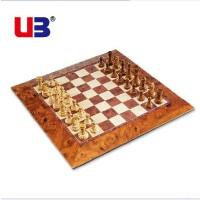 ub友邦大号仿桃木纹磁性国际象棋西洋跳棋棋盘带磁力立体棋子