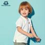 迷你巴拉巴拉男童短袖T恤新款翻领儿童夏装宝宝POLO衫