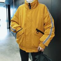 冬季韩版男士宽松短款潮流白鸭绒轻薄工装帅气加厚立领羽绒服外套