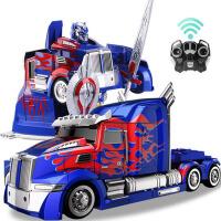 儿童变形金刚玩具遥控汽车机器人模型男孩玩具礼物