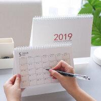 《无印 简系列》2019年韩国风格良品日历 创新小清新台历架 2018 年历计划本备注录 公司企业定制定做月历