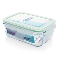 Glasslock 三光云彩钢化耐热玻璃保鲜盒收纳盒玻璃烤箱用饭菜盒便当盒970ml保鲜盒OCRT-097