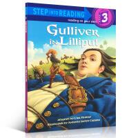 【全店300减100】英文原版绘本书小说 Gulliver in Lilliput (Step into Reading