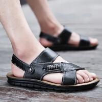 凉鞋男沙滩鞋男款夏季男士鞋子凉拖鞋韩版潮流透气两用两穿凉皮鞋