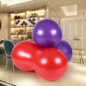 瑜伽球   加厚防爆平衡胶囊球花生球健身普拉提瑜伽球儿童康复训练健身球
