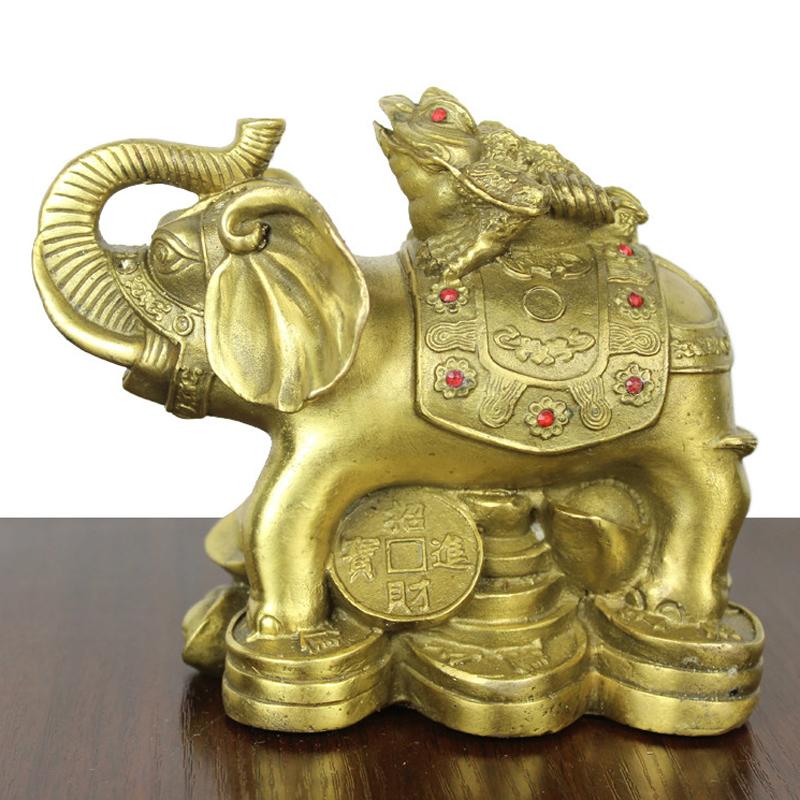 象上蟾 铜工艺品 家居装饰 摆件 铜象 黄铜象