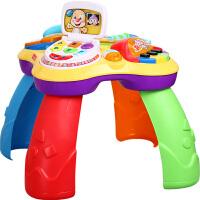 费雪小狗皮皮学习桌儿童多功能双语音乐游戏桌宝宝早教玩具6-36月