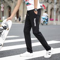 新款秋季运动裤男士大码修身韩版休闲裤学生青年哈伦裤潮流长裤子