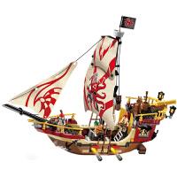 拼装积木10男孩6-12岁 启蒙海盗系列海盗船玩具模型78儿童